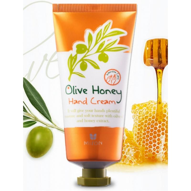 Питательный крем для рук Mizon Olive Honey Hand Cream