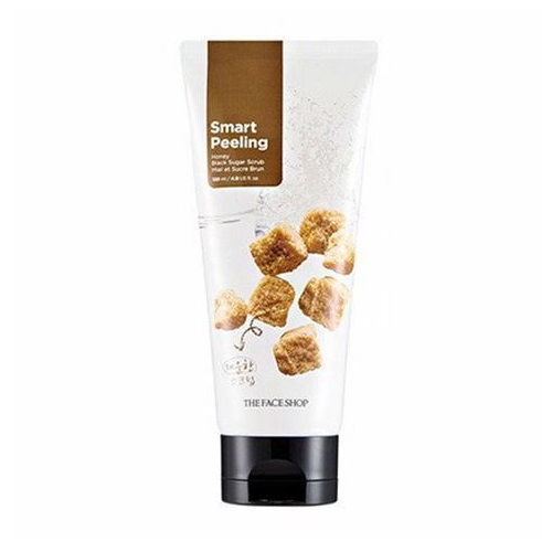 Скраб-пилинг  экстрактом черного сахара The Face Shop Smart Peeling Honey Black Sugar Scrub