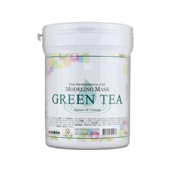 альгинатная маска  зелёным чаем Anskin Green Tea Modeling Mask (Container)