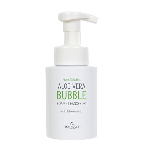 Очищающая пузырьковая пенка с алоэ The Skin House Aloe Vera Bubble Foam Cleanser 300ml the skin house deep cleansing foam глубоко очищающая пенка 120 мл