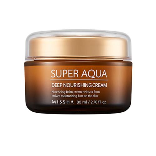 Интенсивный питательный крем Missha Super Aqua Ultra Waterful Deep Nourishing Cream очищающая 3 ступенчатая маска для носа missha super aqua mini pore 3step nose patch