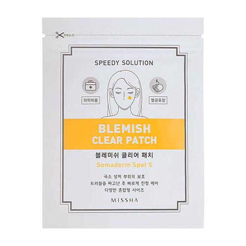 Набор прозрачных пластырей для ухода за воспалениями на коже лица Missha Speedy Solution Blemish Clear Patch patch