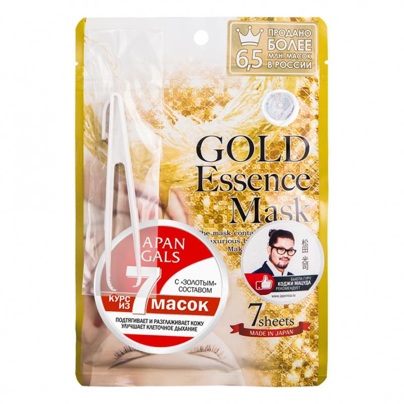 Фото - Питательная тканевая маска с золотом Japan Gals Gold Essence Mask блок питания accord atx 1000w gold acc 1000w 80g 80 gold 24 8 4 4pin apfc 140mm fan 7xsata rtl