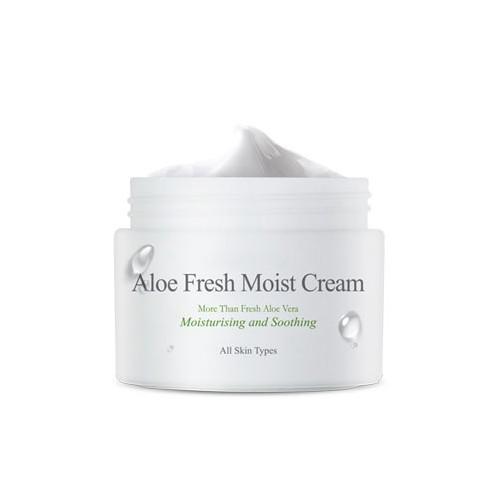 Увлажняющий крем с алоэ The Skin House Aloe Fresh Moist Cream тональный крем the saem porcelain skin bb cream spf30 ра 02