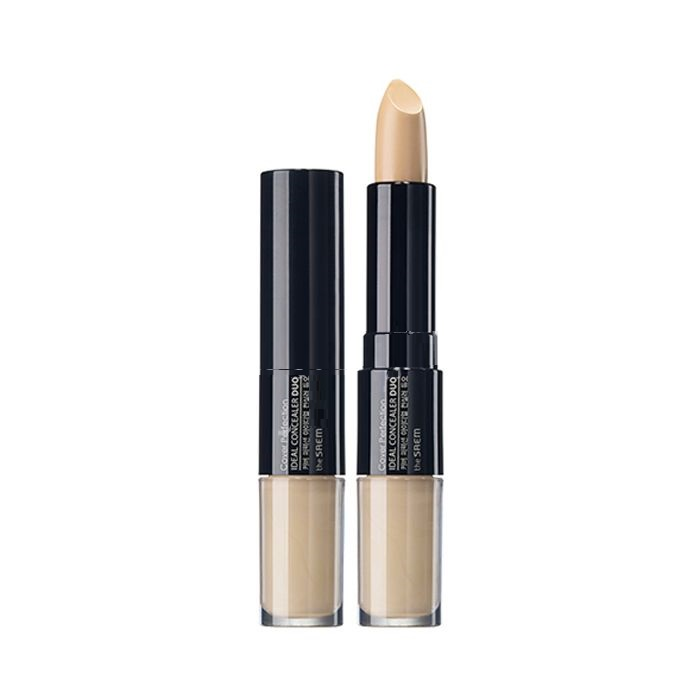 Двойной консилер The Saem Cover Perfection Ideal Concealer Duo палетка консилера the saem cover perfection smart concealer kit