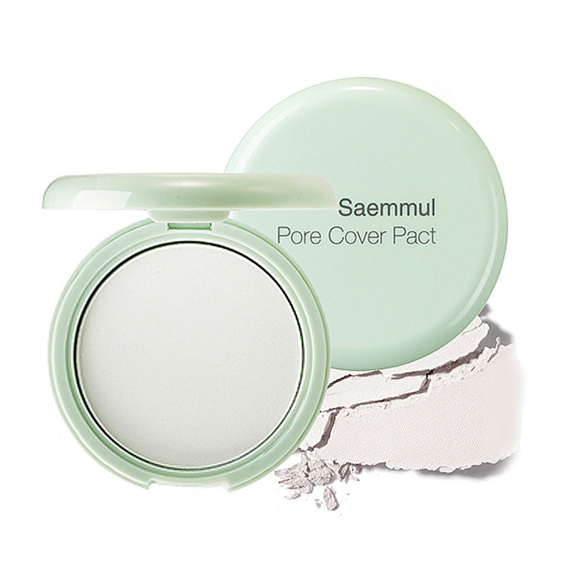 пудра против расширенных пор The Saem Saemmul Perfect Pore Pact the saem saemmul perfect pore bb natural beige бб крем тон 02 15 мл