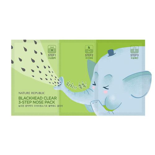 3х ступенчатые патчи для носа Nature Republic Blackhead Clear 3-Step Nose Pack nature republic honey