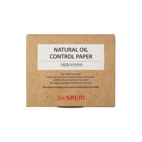 Прорезиненный матирующие салфетки The Saem Natural Oil Film