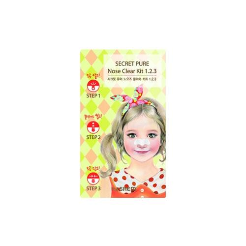 3х ступенчатые патчи для носа The Saem Secret Pure Nose Clear Kit сопутствующие товары the saem eyelash clear line 3