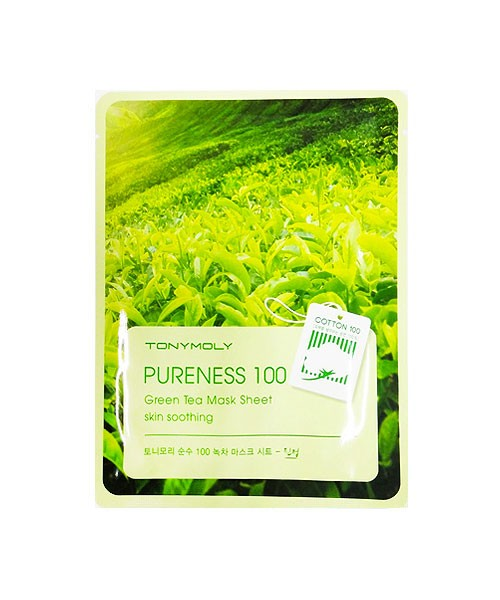 Тканевая маска с зеленым чаем Tony Moly Pureness 100 Green Tea Mask Sheet tony moly маска для лица pureness 100 green tea mask sheet