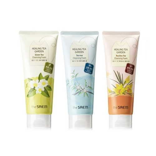 Пенки для умывания с чаем The Saem Healing Tea Garden Cleansing Foam tea garden