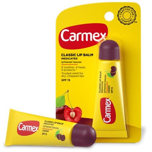 Классический бальзам для губ Carmex Carmex Lip Balm Cherry Tube 10g carmex бальзам для губ вишня cherry twist бальзам для губ вишня cherry twist 1 шт