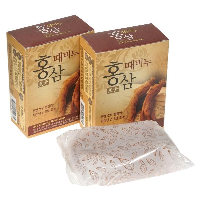 Мыло с красным женьшень Mukunghwa Miso Red Ginseng Scrub Body Soap