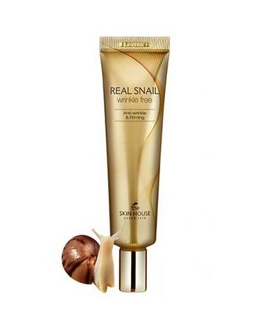 Улиточный крем против морщин The Skin House Real Snail Wrinkle Free Snail Cream mizon peptide 500 30ml skin care essence serum face cream whitening moisturizing anti wrinkle facial cream korean cosmetics
