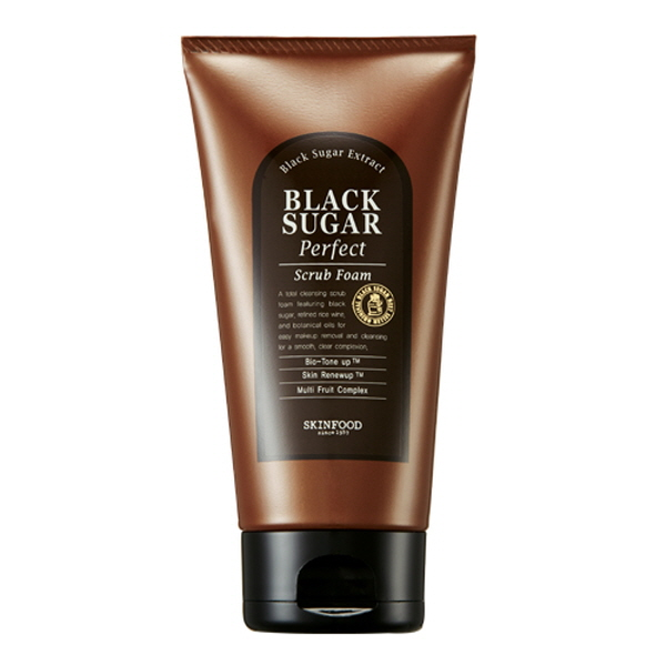 Пенка с черным сахаром SKINFOOD Black Sugar Perfect Scrub Foam skinfood black sugar маска смываемая для лица black sugar маска смываемая для лица