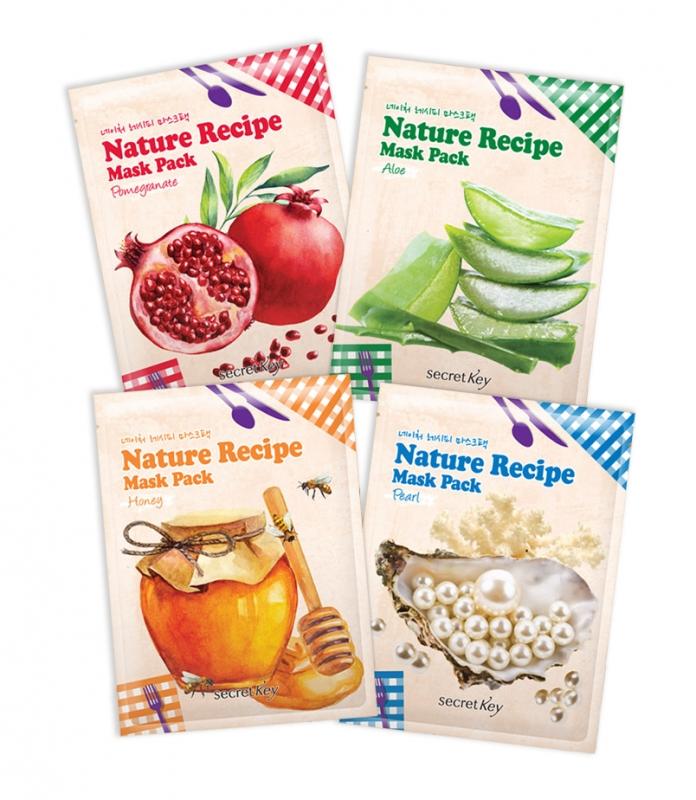 Линейка тканевых масок Secret Key Nature Recipe Mask Pack