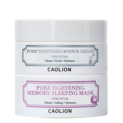 Набор для очищения пор Caolion Pore Tightening Day and Night Glowing Duo маска caolion pore blackhead eliminating t zone strip
