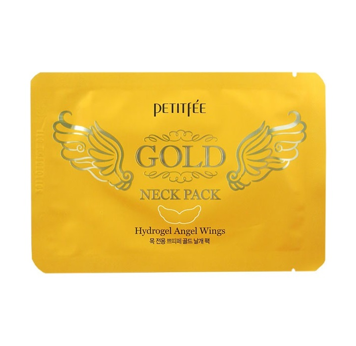 Гидрогелевые патчи для шеи Petitfee Angel Wings Gold Neck Hydrogel Pack premium 30