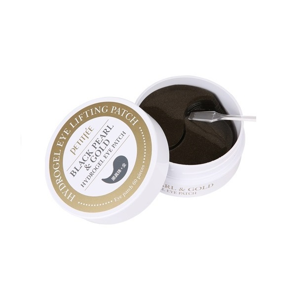 Патчи с жемчугом и золотом Petitfee Black Pearl and Gold Hydrogel Eye Patch цены онлайн