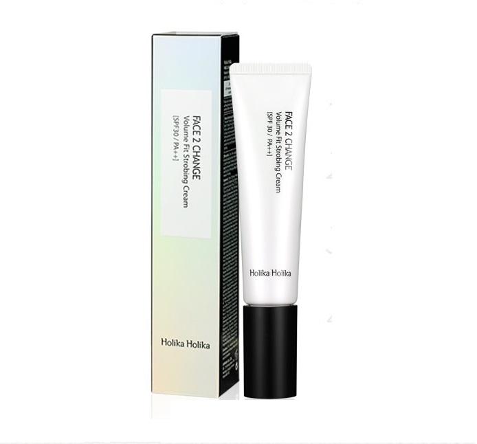Осветляющая крем-база Holika Holika Face 2 Change Volume Fit Strobing Cream