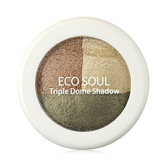 Тени для век трехцветные The Saem Eco Soul Triple Dome Shadow