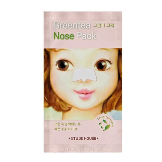Маска от черных точек Etude House Green Tea Nose Pack