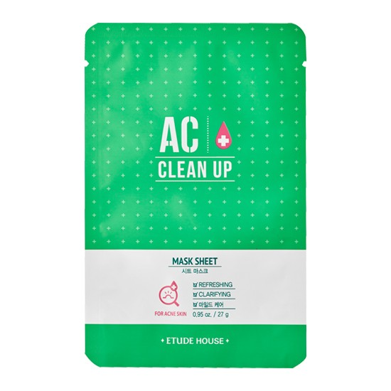 Маска для проблемной кожи Etude House AC Clean Up Mask Sheet тканевая маска для лица etude house wonder pore black mask sheet