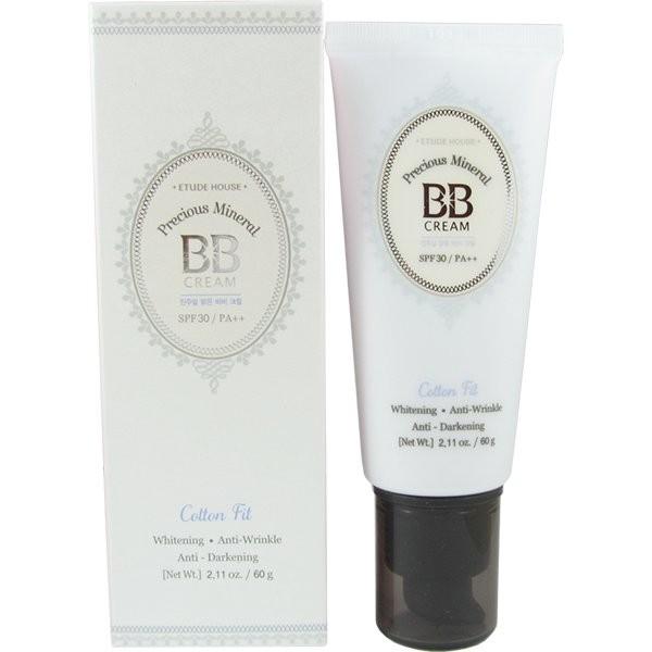 Минеральный ББ крем Etude House Precious Mineral BB Cream Cotton Fit