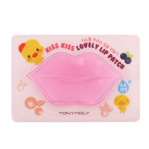 Ягодная маска-патч для губ Tony Moly Kiss Kiss Lovely Lip Patch tony moly sheet gel mask kiss kiss lovely lip patch патчи для губ 10 г