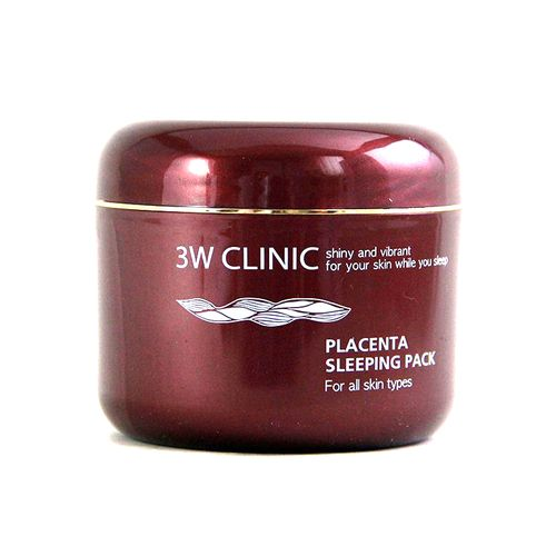 Ночная антивозрастная маска 3W Clinic Placenta Sleeping Pack