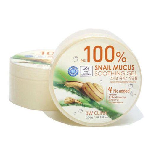 Универсальный гель с муцином улитки 3W Clinic 3W Clinic Snail Soothing Gel 100% гели llang универсальный гель с экстрактом рапсового меда on the skin soothing gel canola honey