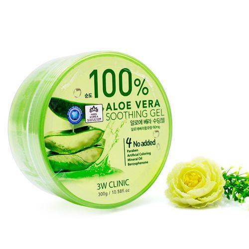 Гель с алоэ вера 3W Clinic 3W Clinic Aloe Vera Soothing Gel 100% гель sea of spa aloe vera gel 180 мл