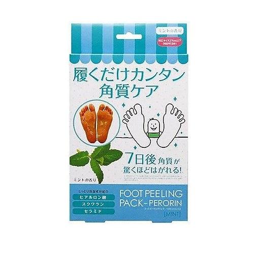 Пилинг-носочки для ног с ароматом мяты Sosu Foot Peeling Pack Perorin Mint