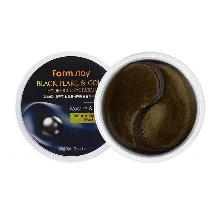 Патчи для глаз с жемчугом и золотом Farmstay FarmStay Black Pearl and Gold Hydrogel Eye Patch патчи с жемчугом и золотом petitfee black pearl and gold hydrogel eye patch