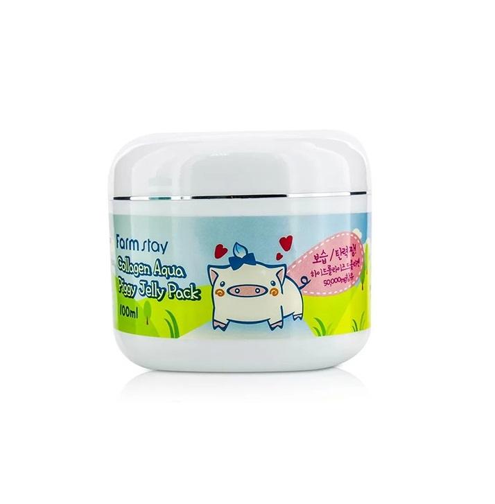 Ночная маска-желе со свиным коллагеном Farmstay Collagen Aqua Piggy Jelly Pack