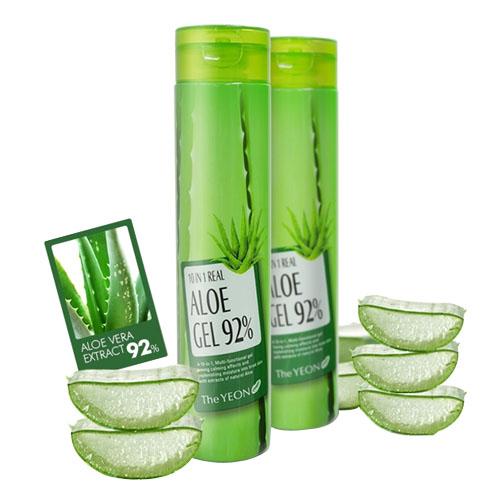 Многофункциональный гель с алоэ The Yeon 10 in 1 Real Aloe Gel 92% the yeon lotus roots 365 silky skin bubble peeling gel пилинг гель с экстрактом лотоса 100 мл