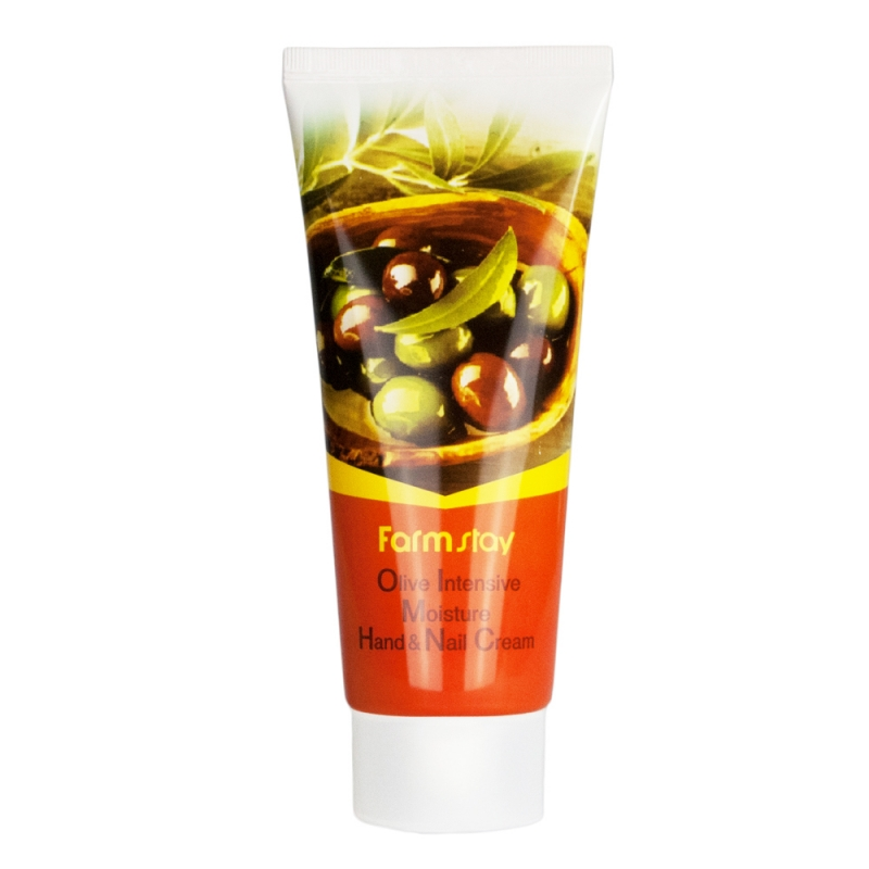 Интенсивно увлажняющий крем для рук с оливой Farmstay Olive Intensive Moisture Hand And Nail Cream