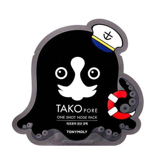 Патчи для носа от черных точек Tony Moly Tako Pore One Shot Nose Pack tony moly набор пластырей для носа против черных точек stawberry seeds 2 6г