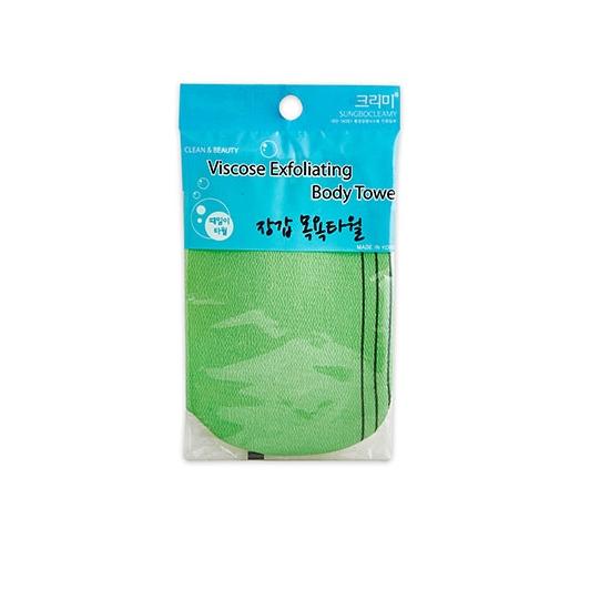Мочалка-перчатка с жесткими ворсинками Sungbo Cleamy Viscose Glove Bath Towel vivienne sabo oval latex makeup sponge спонж овальный для макияжа латексный