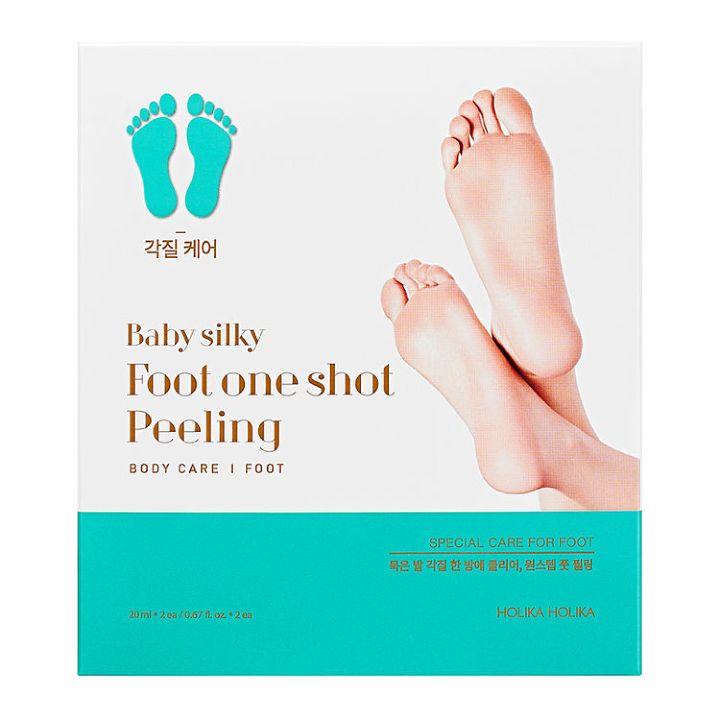 Пилинговые-носочки для ног Holika Holika Baby Silky Foot One Shot Peeling
