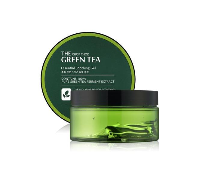 Многофункциональный гель с ферментированным зеленым чаем Tony Moly The Chok Chok Green Tea Essential Soothing Gel гель tony moly the chok chok green tea essential soothing gel объем 200 мл