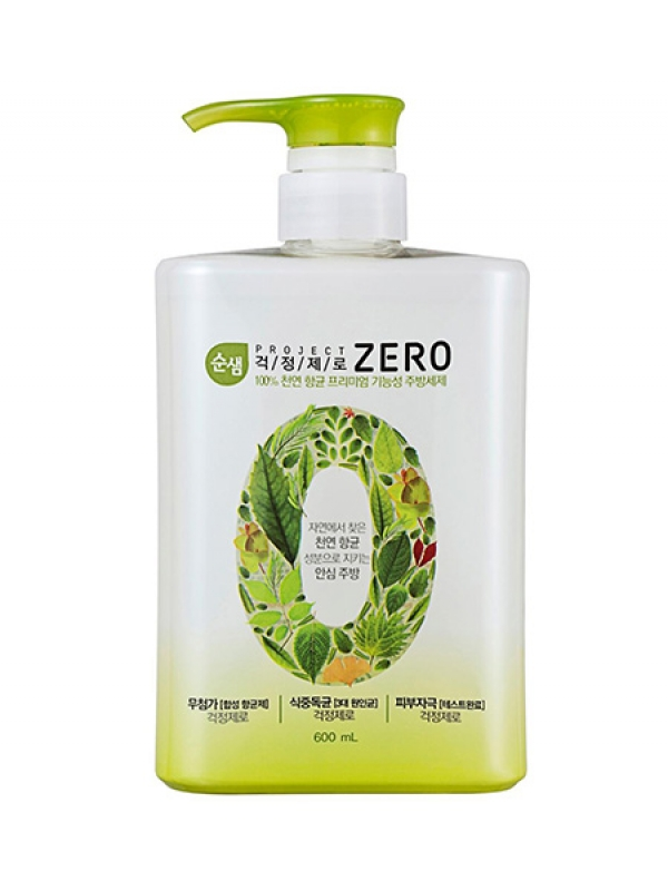 Антибактериальное средство для мытья посуды Kerasys Soonsaem Zero 600ml шампунь kerasys ks 600ml