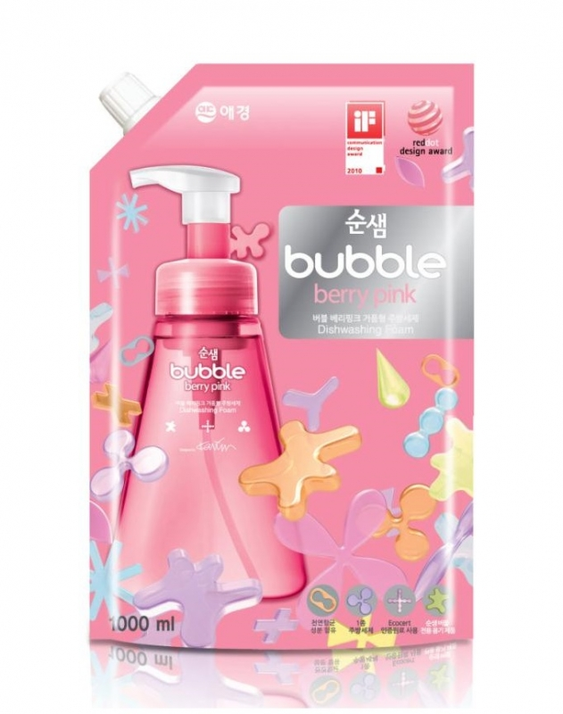 Средство для мытья посуды (мягк.уп.) Kerasys SoonSaem Bubble (Refill) 1000ml цены онлайн
