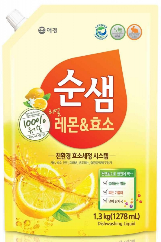 Средство для мытья посуды Kerasys SoonSaem Bubble (Refill) 1300ml цены онлайн