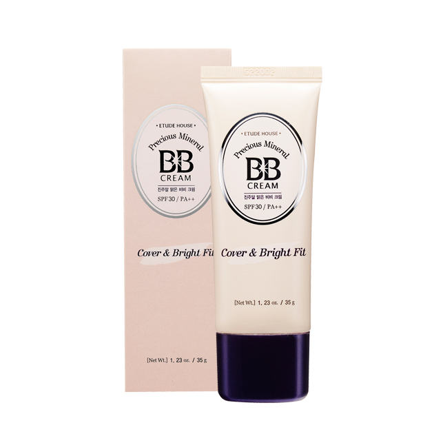 BB крем с жемчужным прокрытием Etude House Precious Mineral BB Cover and Bright Fit etude house tear drop liner 3 pure sparkling pearl