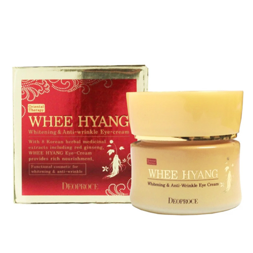Крем для глаз с травяными экстрактами Deoproce Whee Hyang Whitening and Anti-Wrinkle Eye Cream meiking skin care sets whitening cream toner lotion face care set wrinkle whitening moisturizing anti sensitive facial care set