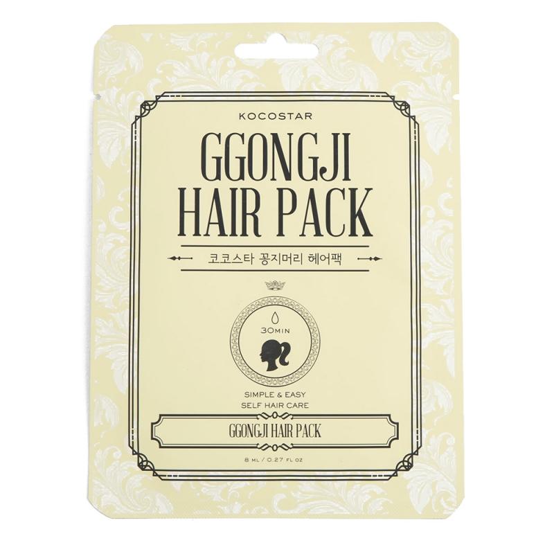 Питающая маска для волос Kocostar Ggongji Hair Pack kocostar маска восстанавливающая для поврежденных волос конский хвост ggong ji hair pack 8 мл
