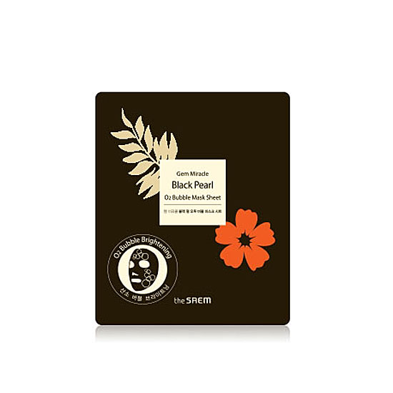 Кислородная экспресс-маска The Saem Gem Miracle Black Pearl O2 Bubble Mask Sheet