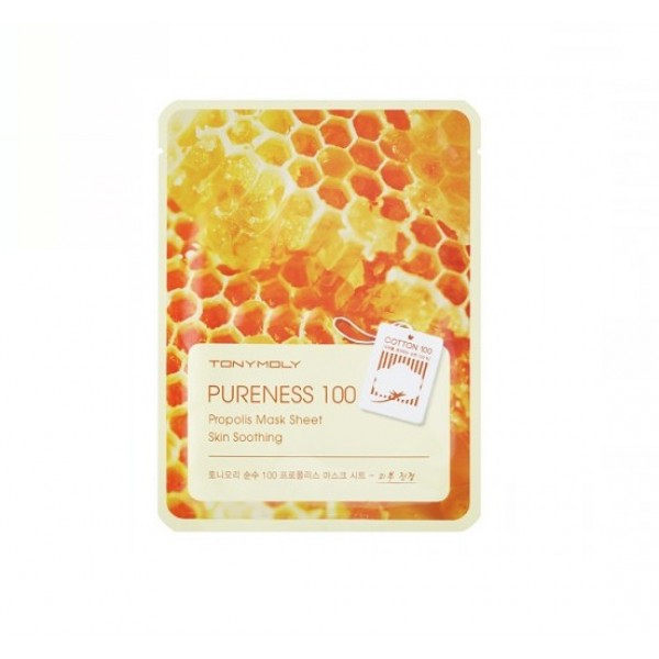 Тканевая маска с прополисом Tony Moly Pureness 100 Propolis Mask Sheet тканевая маска tony moly pureness 100 shea butter mask sheet объем 21 мл