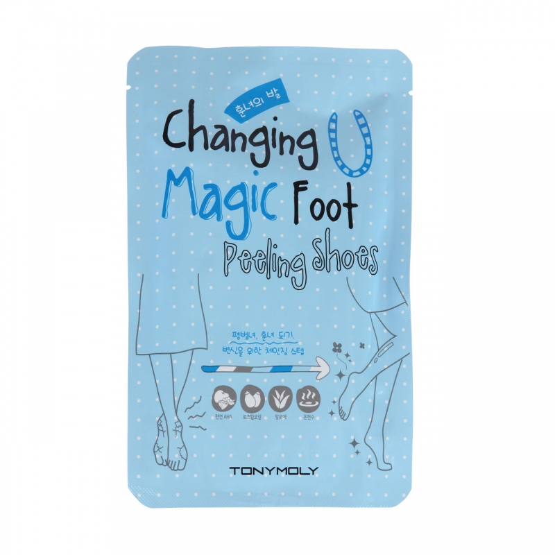 Пилинговые-носочки для ног Tony Moly Changing U Magic Foot Peeling Shoes маска tony moly тканевые маски pureness 100 mask sheet tony moly